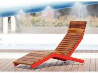 Красный - RIVAGE | Шезлонг из стали и дерева