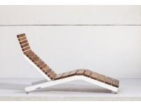 Белый - RIVAGE | Шезлонг из стали и дерева