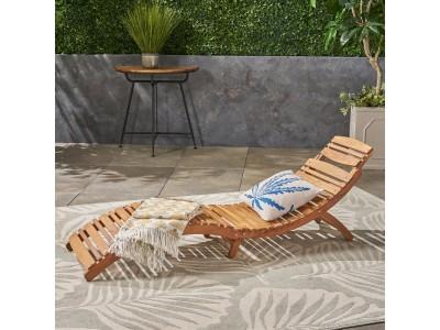 Раскладной лежак из дерева модель 1035