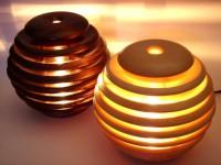 Лампа ночник из дерева