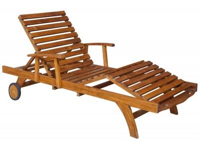 Лежак с регулировкой для ног и подлокотником Caribe