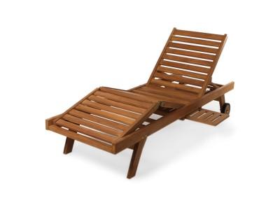 Лежак с регулировкой для ног Caribe