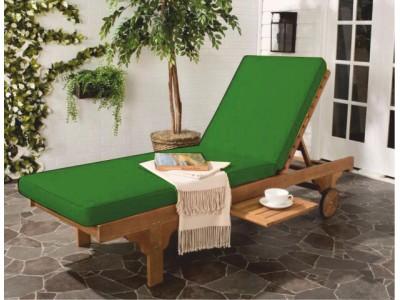 Зеленый матрас для шезлонга