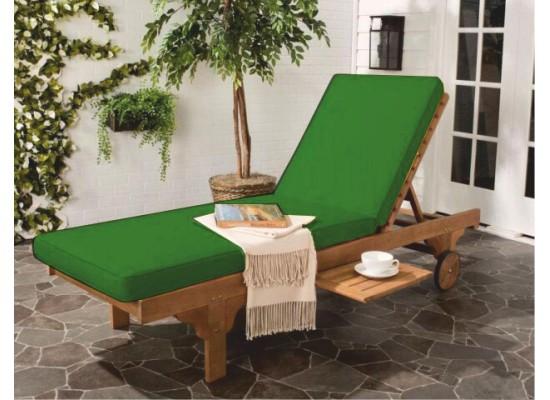Фото 1. Зеленый матрас для шезлонга