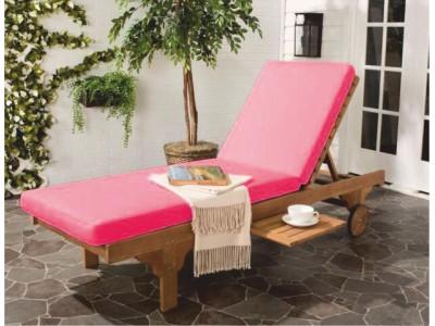 Розовый матрас для шезлонга