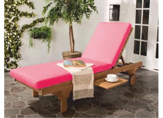 Фото 1. Розовый матрас для шезлонга
