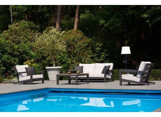 Фото 1. Садовый комплект мебели из дерева Lounge Black