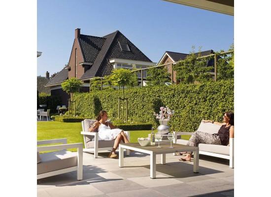 Фото 1. Деревянный садовый комплект из дерева Lounge White