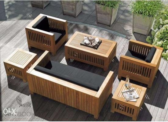 Фото 1. Дизайнерская садовая мебель из дерева Plans Living