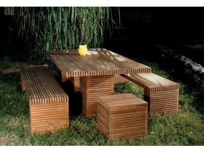 Садовая мебель из дерева Palns Block