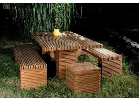 Фото 1. Деревянная садовая мебель Palns Block